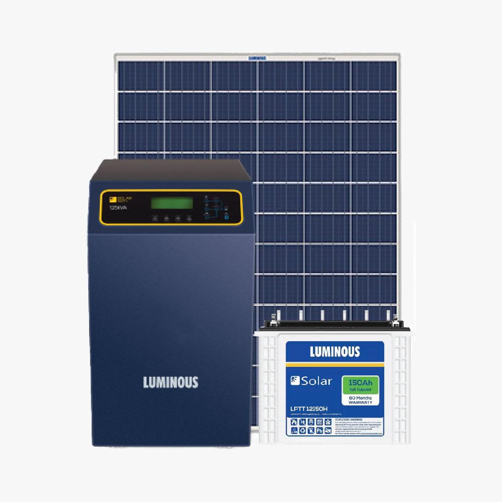 LUMINOUS 1.5 KWp Solar Super Smart Home System