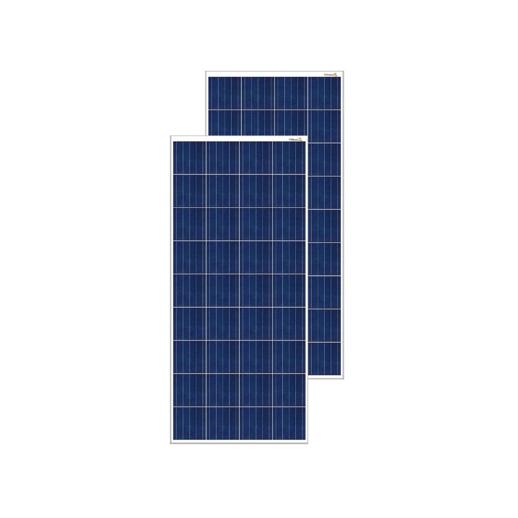 MicroSun Solar Panel 150 Watt - 12 Volt Poly Module (Pack of 2)